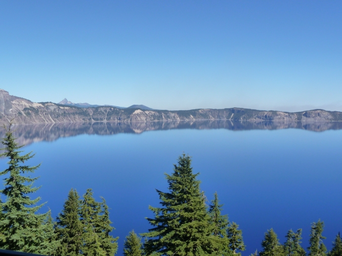 Crater Lake Rim Reflection