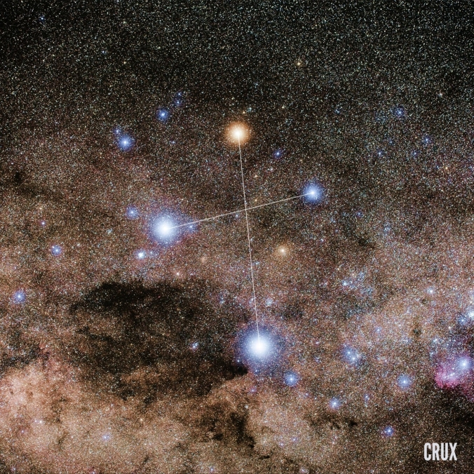 Southern Cross in Milky Way