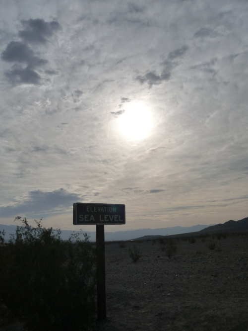 Death Valley - Sea Level Sign
