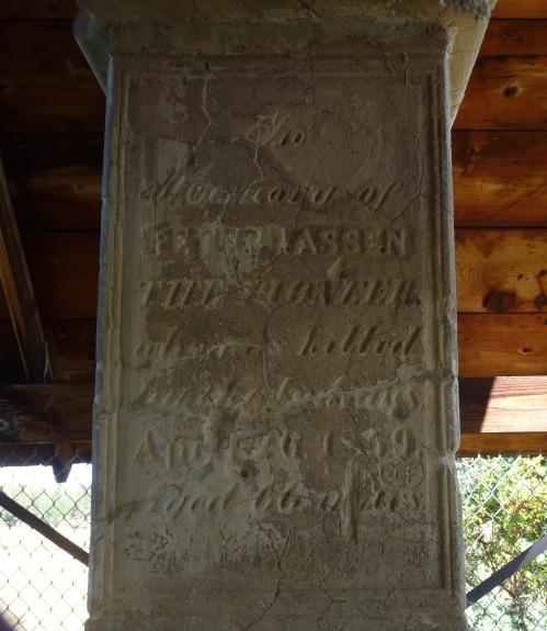 Peter Lassen Headstone 2