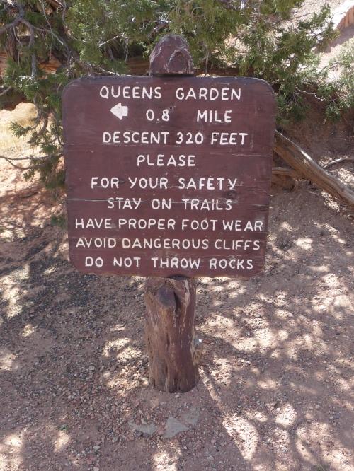 Bryce_Queens Garden Trail_Sign