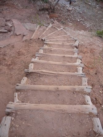 Zion_Taylor Creek Trail_Stairs Going Down