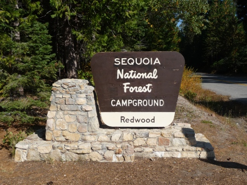 Sequoia NF_Redwood Campground_Sign