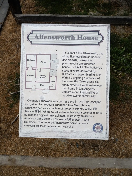Col Allensworth SHP_Allensworth House_Plaque