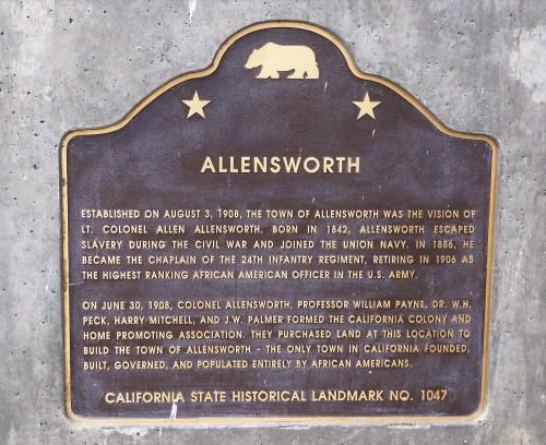 Col Allensworth SHP_Plaque