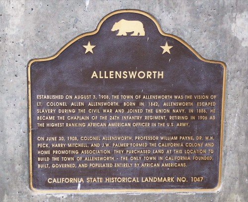 Col Allensworth SHP_Plaque