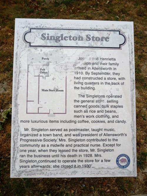 Col Allensworth SHP_Singleton Store_Plaque