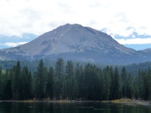 Lassen Peak from Manzanita Lake
