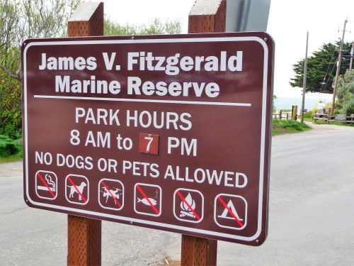 James V. Fitzgerald Marine Reserve_Sign