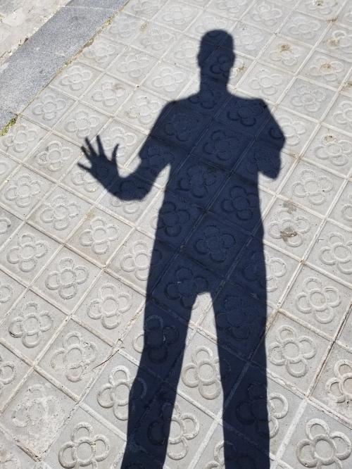 Barcelona Sidewalk Shadow