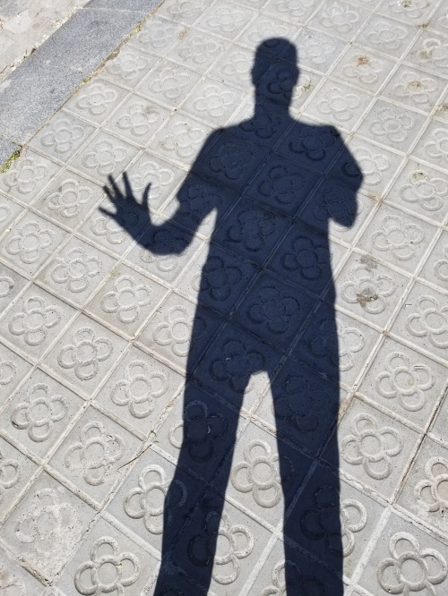 Barcelona Sidewalk Shadow