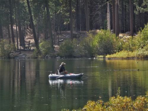 Lassen_Manzanita Lake_Fisherman