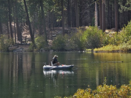 Lassen_Manzanita Lake_Fisherman