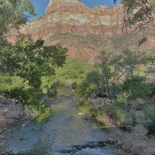 Zion_Beckoning River and Canyon
