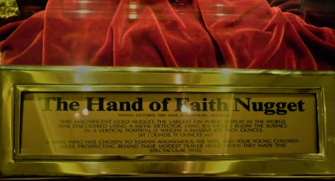 The Hand of Faith Nugget Plaque