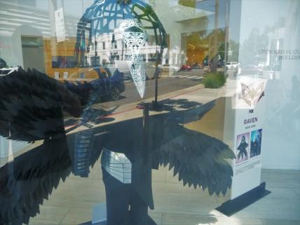 Paley Center_Window Display_Masked Singer_Raven_Exterior